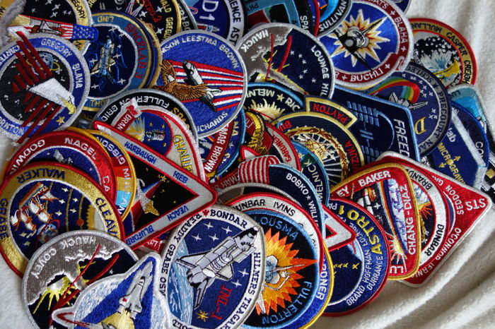 48 Space Shuttle Patches from NASA Houston and KSC