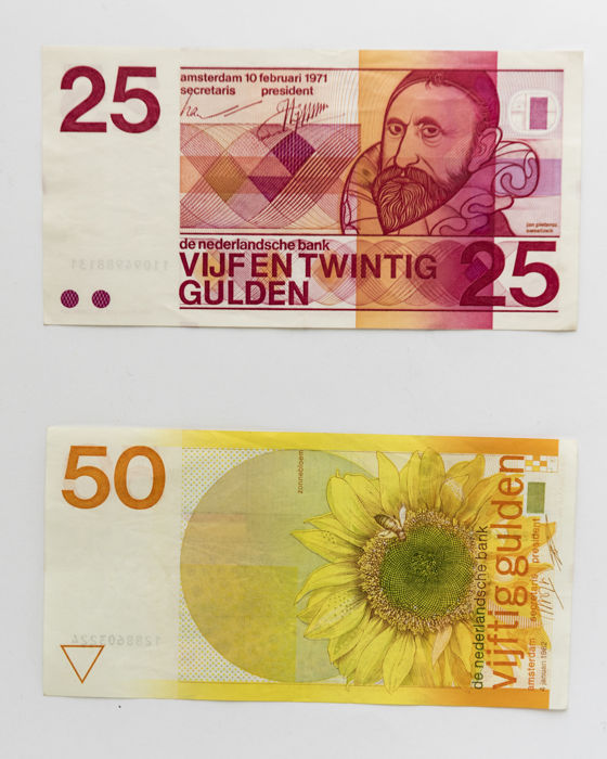 pays-bas - 5, 10, 25 and 50 gulden 1968-1971-1973-1982 - catawiki