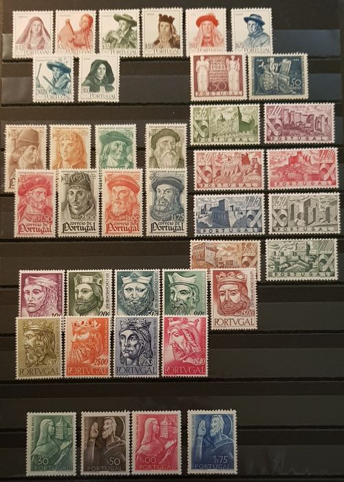 Portugal 1845/1955 - Set with complete series of this period - Mundifil 644/651, 664/671, 672, 677/684, 691/694, 695, 806/814