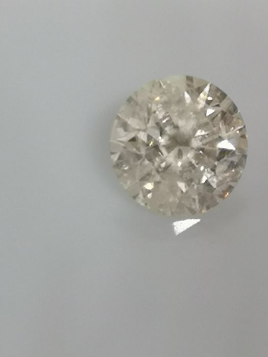 0.90 ct - Round Brilliant - White - H / SI3