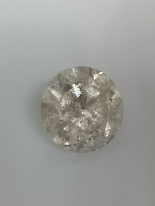 1.01 ct - Round Brilliant - White - G / SI3