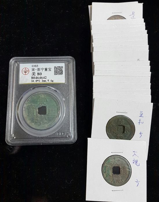 China, Northern Song Dynasty - Lot various coins 960-1126 (21 pieces)