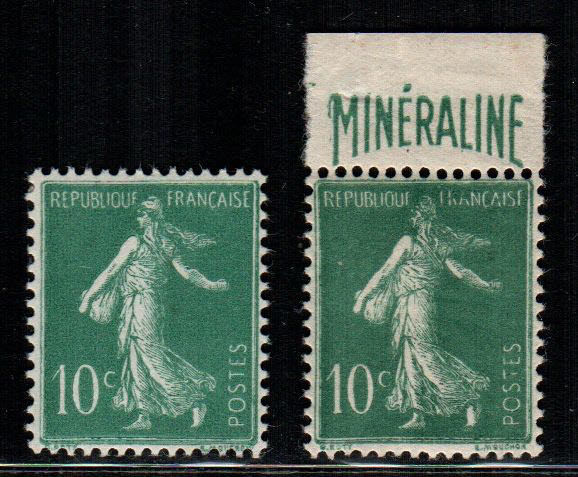 France 1924 - Mineraline Advertising - Yvert NN. 188 - 188A