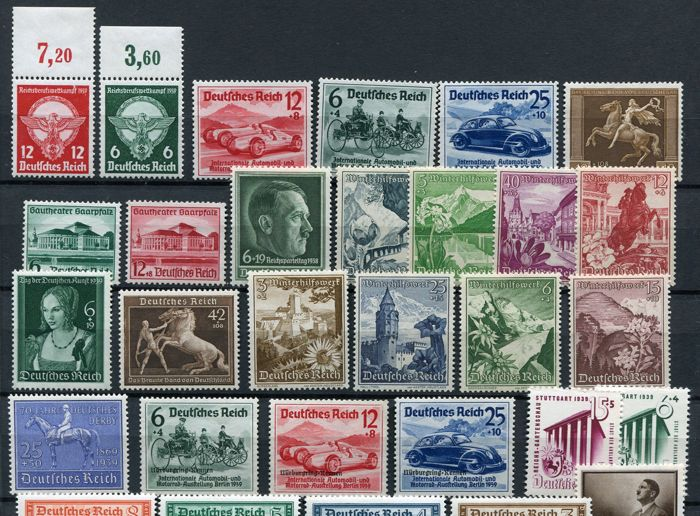 German Empire 1939/1941 - Small collection semi-classics - Michel 689/780 complete