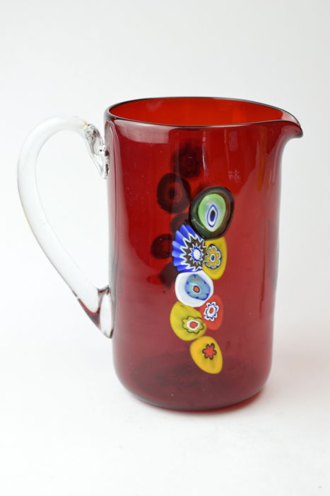 Zecchin - Jug with Murrine and silver