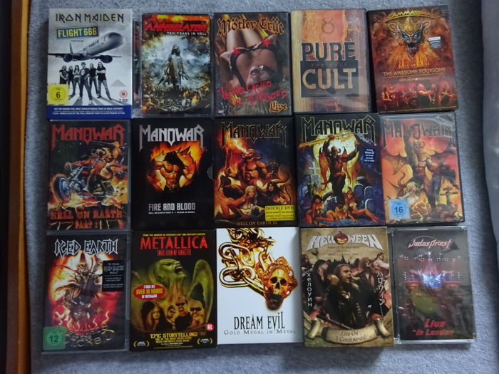 Lot of 30 Metal & Rock DVD's (2000/2011)