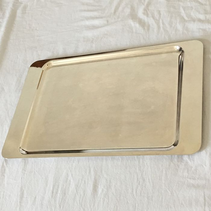 Rectangular silver plated Tray - by Christofle, France