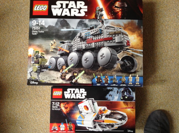 Star Wars - 75151 + 75170 -  Turbotank en Phantom