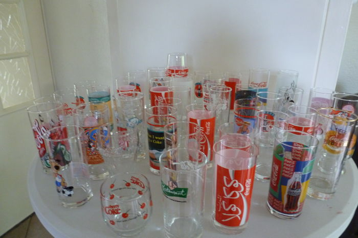 Forty-three (43) Coca-Cola glasses