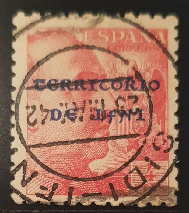 Ifni 1941/1942 - General Franco. Overprinted Spanish stamps - Edifil 14