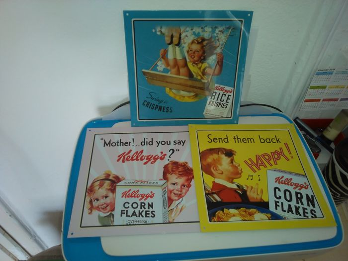 Kellogg's advertising plates - very good condition