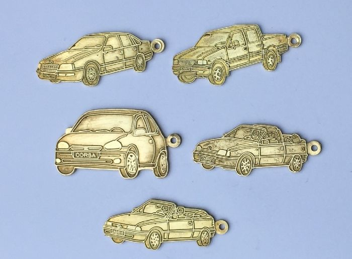 Opel - keychains - miniatures met return address