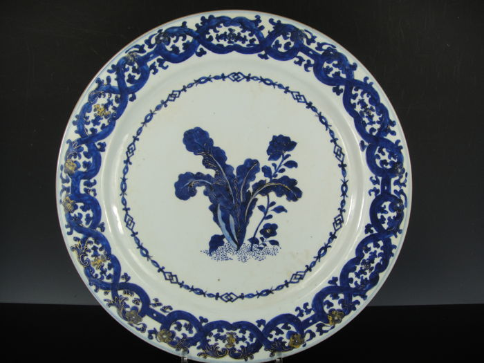 Charger, 38 CM - Porcelain - China - 18th century