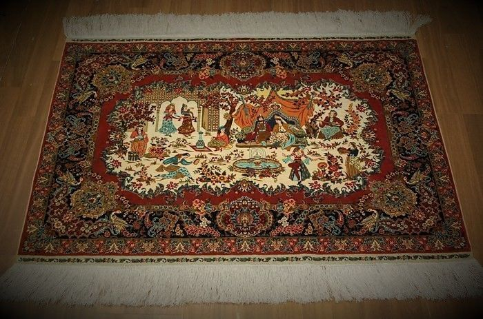 Turkish rug – Silk – Hereke – Signed – 105 x 80 cm – from around 1980