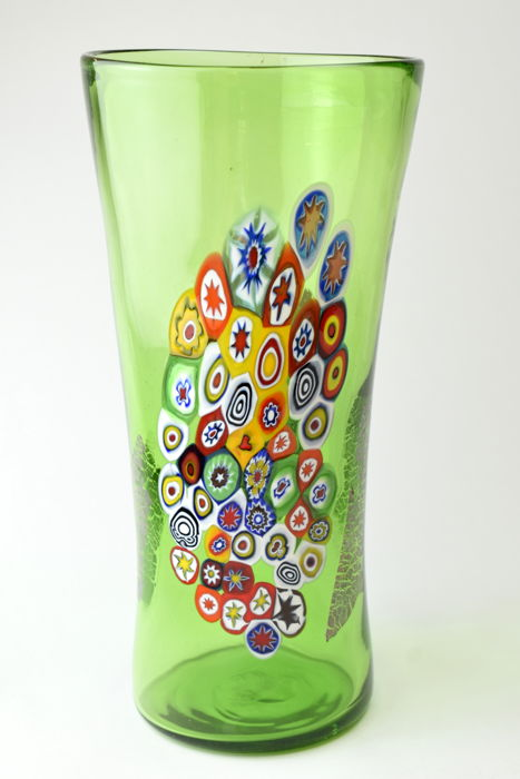 Zecchin - Vase with Murrine and silver