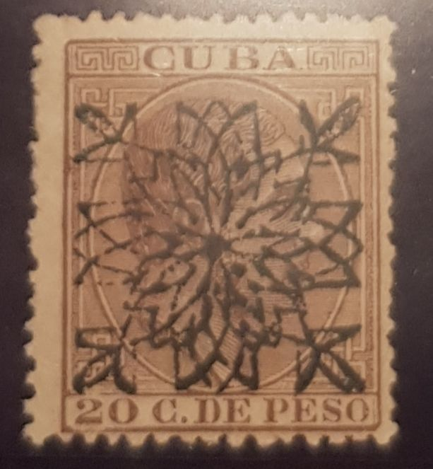 Cuba 1883 - Alfonso XII stamp, enabled. Key value. - Edifil 88