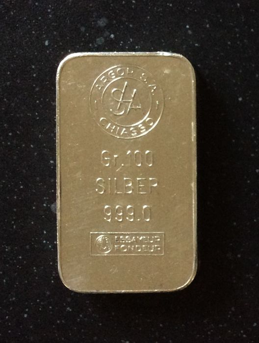Argor Chiasso S.A. - 100 grams - 999/1000 - Minted