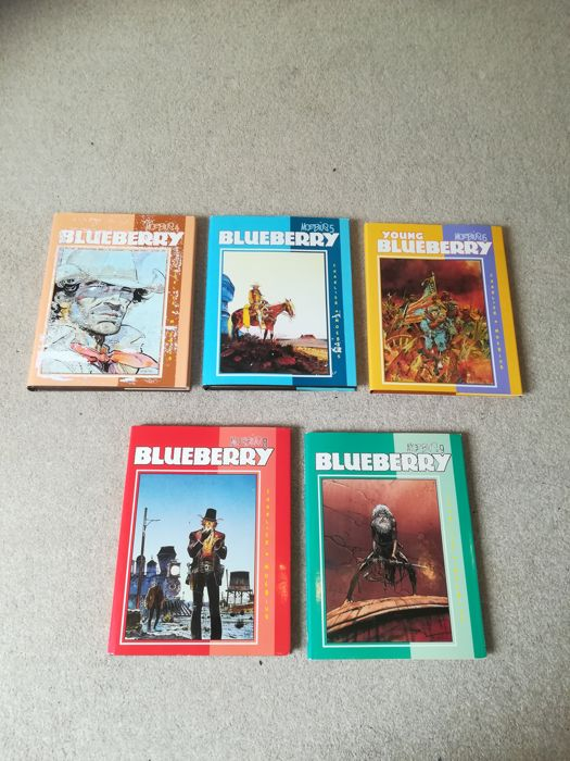 Blueberry - Collected works of Moebius - Vol. 4 + 5 + 6 + 8 + 9 - 5 x deluxe hardcover with dust jacket - (1989/1991)