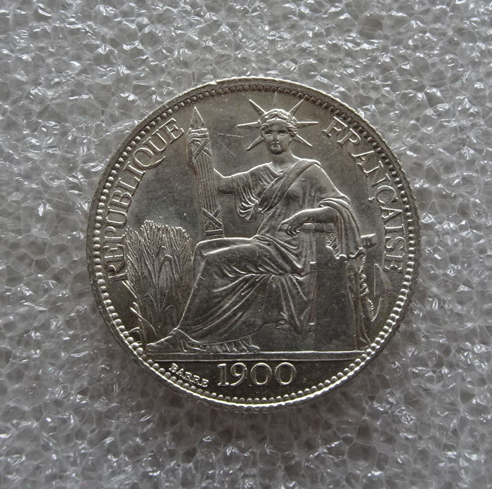 Frans Indo-China - 20 Cent 1900-A - Zilver
