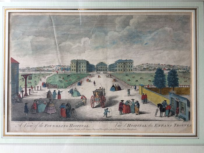 U.K., Londen; L.P. Boitard / N. Parr / R. Sayer - A View of the Foundling Hospital - 1751-1760