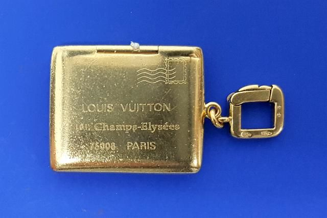 "Louis Vuitton, 18k Yellow Gold, ""Envelope Charm or Letter Charm"""