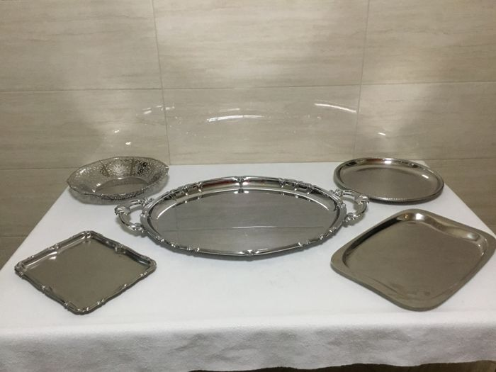 Set of 5x Trays - by Alfra/Alessi/Fratelli Calderoni