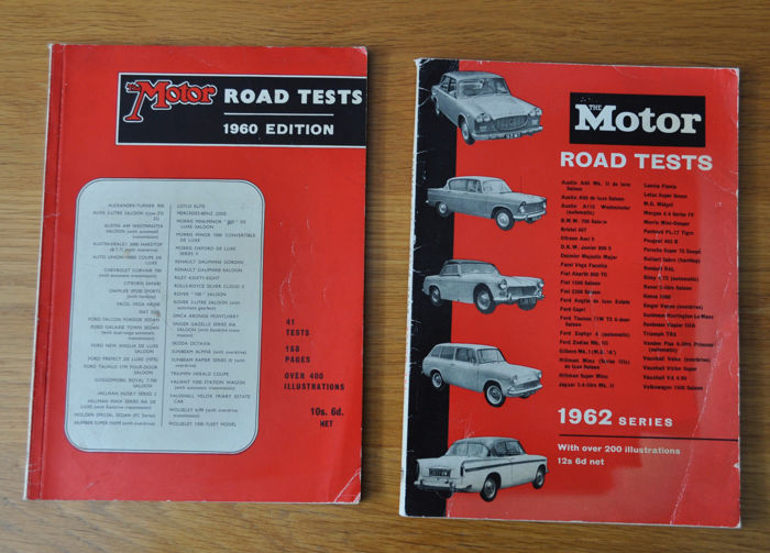 Boeken - 1960 & 1962 The MOTOR Road tests books - 1960-1962 (2 items)
