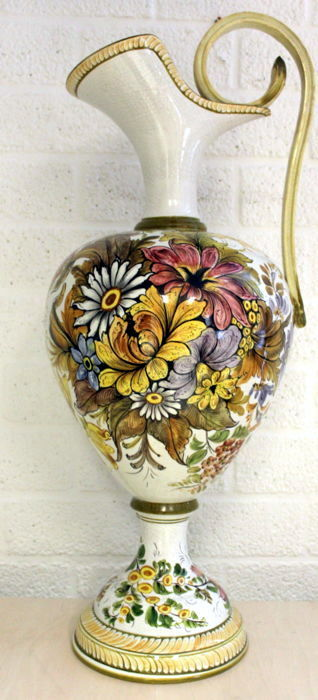 Large Hand Painted Ornamental Vase On Stand Bassano Italy Catawiki