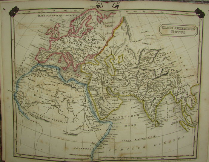 World ; Longman, Hurst, Rees, Orme and Brown, London  - An Atlas of Ancient Geography - 1821-1850