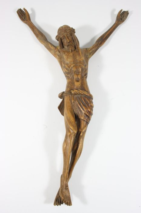 Beautiful Corpus in wood carving - France - approx. 1800-1820