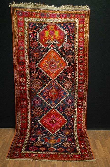 antik kasak  rug, late 20th kaukasien  260x115cm