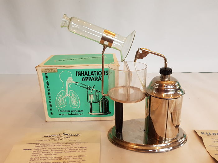 Inspirol - Inhalat - Antique Vapor Inhalation Device - Lyssia Werke (D)