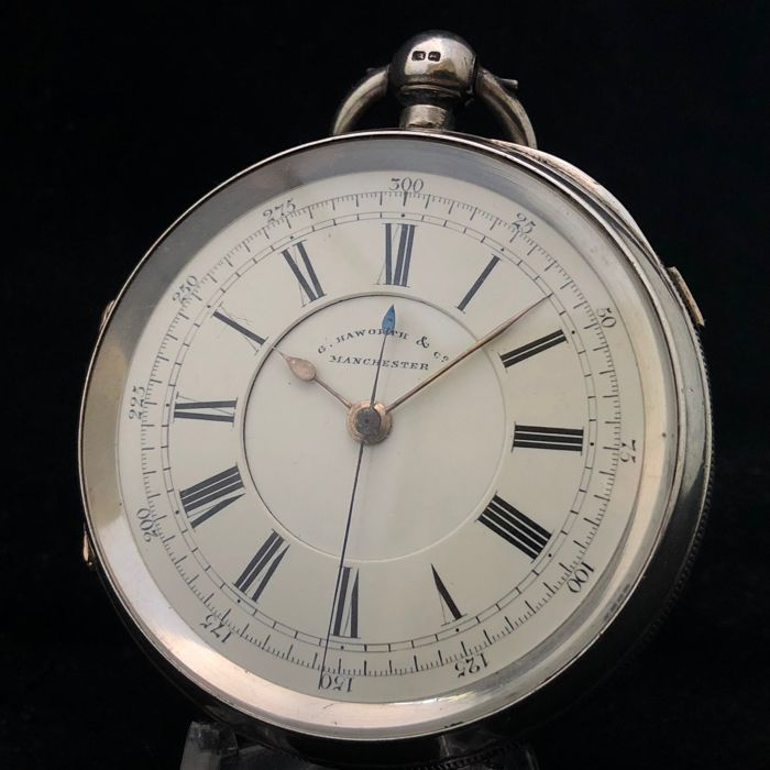 G. Haworth & Co. - Large Doctors centre seconds chronograph - Fusee - Heren - 1893