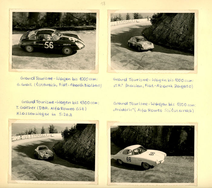 photograph - Period  Photographs Fiat Abarth Ferrari 250 Racing - 1961 (9 items)