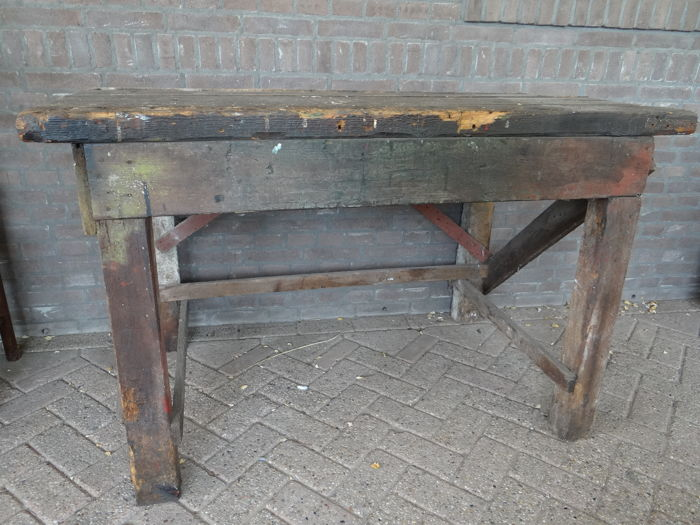 A brocante workbench, mid 20th century