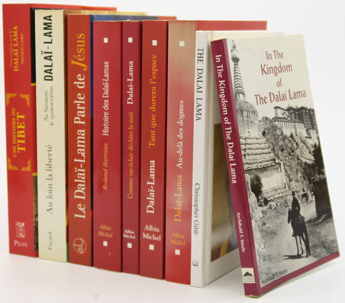 Dalai Lama - Lot with 9 books about the Dalai Lama - 1990/2007
