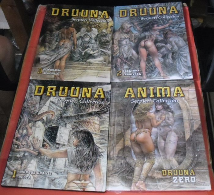 Druuna nn. 0/3 - Serpieri Collection - 4x vol. - Tapa dura - (2010)