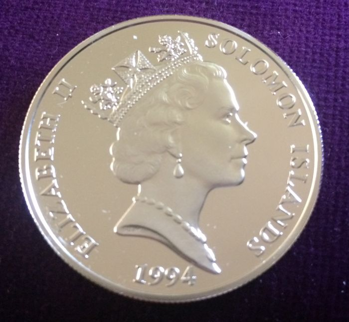 Solomon Islands - 10 Dollar 1994 - Silver