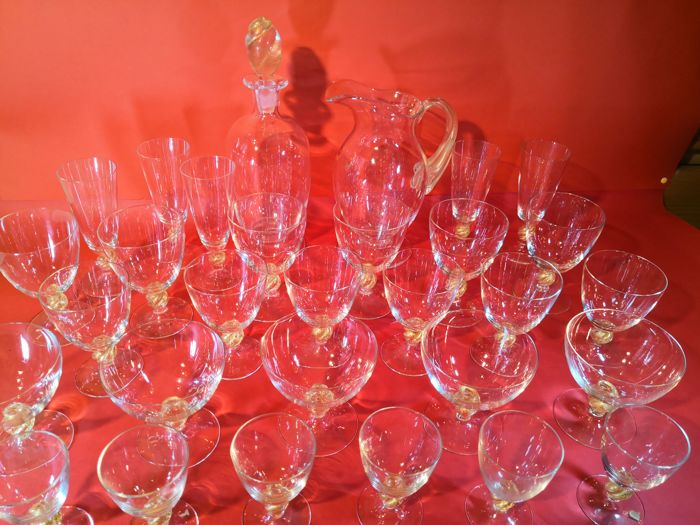 Cristalleria di Murano - Glasses set (40 pieces)