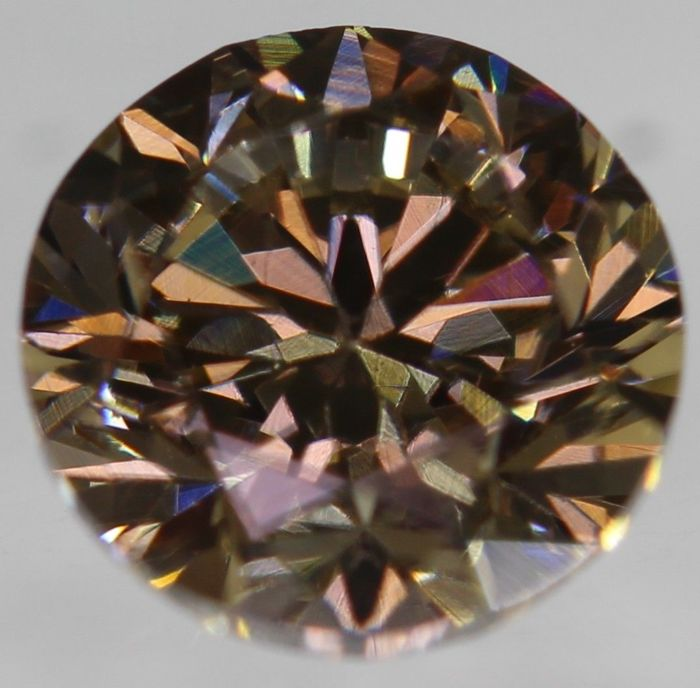 Diamond 0.50 ct round brilliant Fancy intense brown VVS1 [NO RESERVE PRICE] [EUROPEAN SELLER]