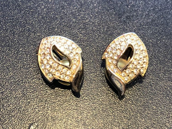 Christian Dior - Gold plated runway earrings  - Vintage