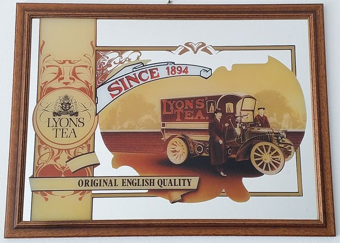 Lyons Tea silk-screen printed mirror