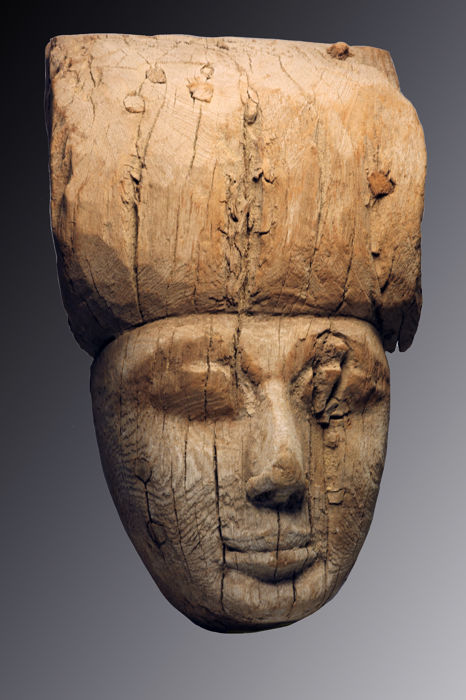 Ancient Egyptian Wood  Mask - 27 cm - (1)