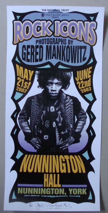 Gered Mankowitz Exhibition Poster Art Show Rock Icons By Mark
