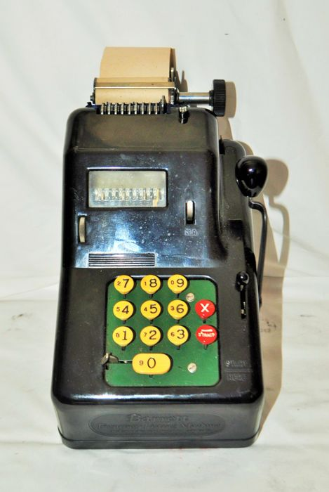 Barrett Figuring Listing Adding Machine Made in the USA
