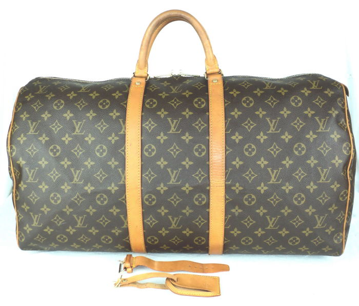 louis vuitton monogramm keepall 55 reisetasche vintage catawiki. Black Bedroom Furniture Sets. Home Design Ideas
