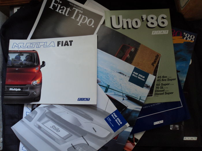 Brochures/ Catalogues - Fiat - 1980-1999 (101 items)