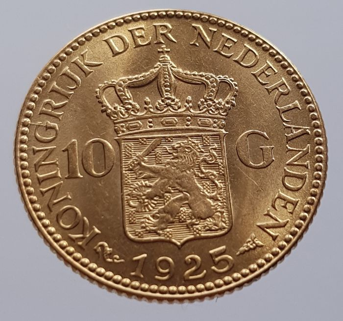 Netherlands - 10 Gulden 1925 Wilhelmina - Gold
