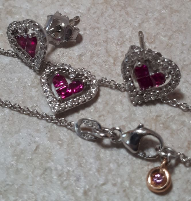 Comete Gioielli - Diamond and ruby jewellery set