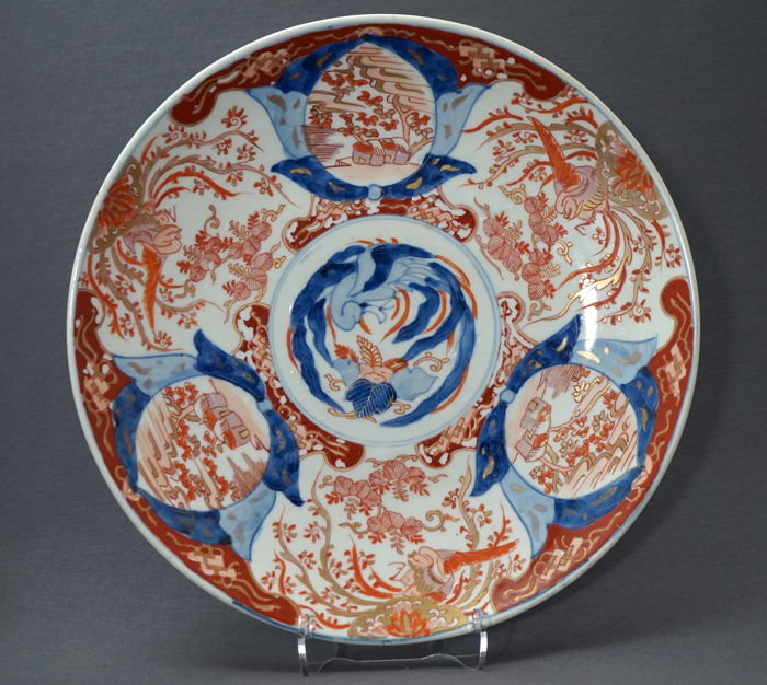 Very large dish with phoenix scenery - Japan - late Meiji period (1868–1912)